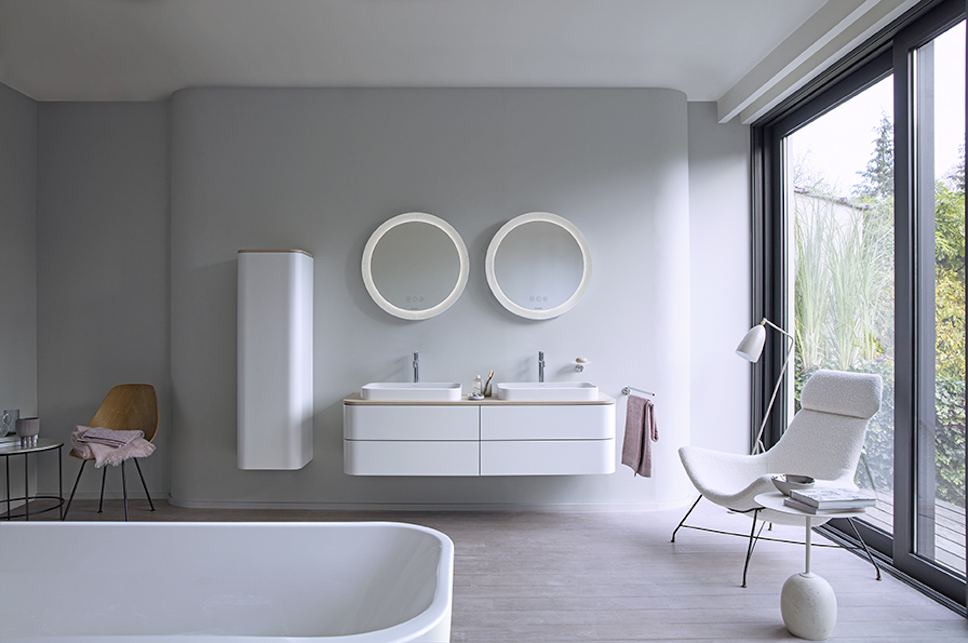 Curves And Colour A Rounded Look At Bathroom Design